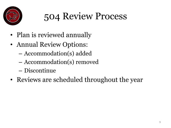 504 Review Process