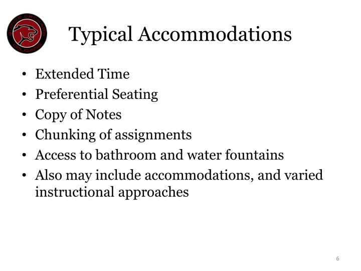 Typical Accommodations