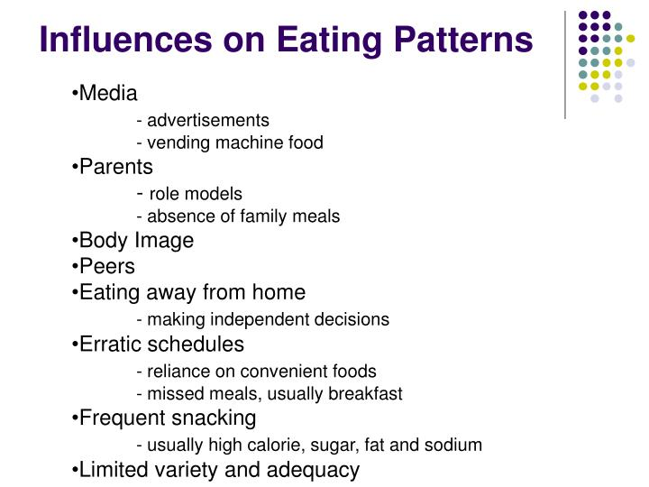 Influences on eating patterns