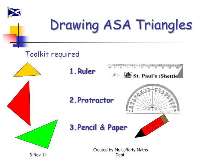 Drawing ASA Triangles