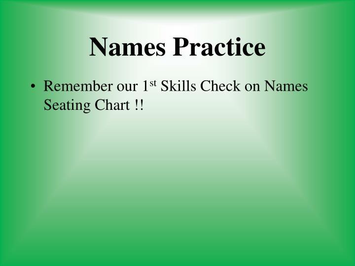 Names Practice