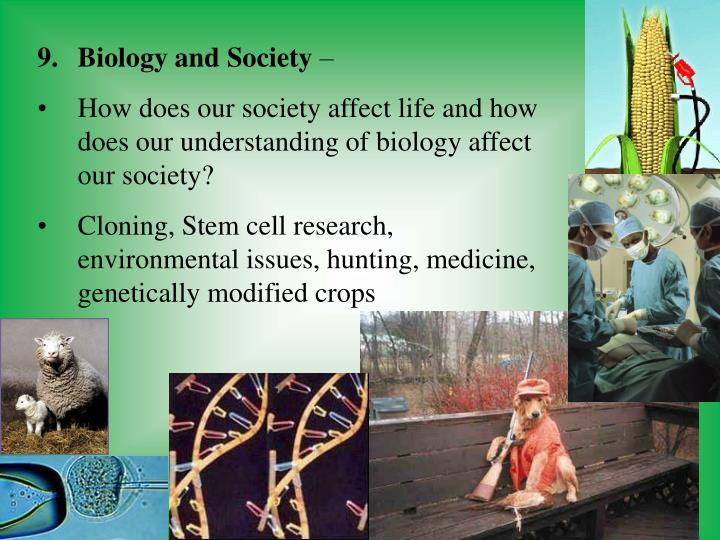 Biology and Society