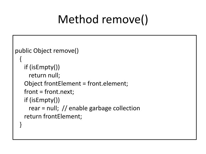 Method remove()