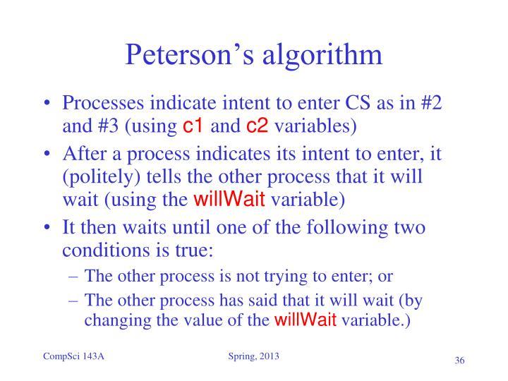 Peterson's algorithm