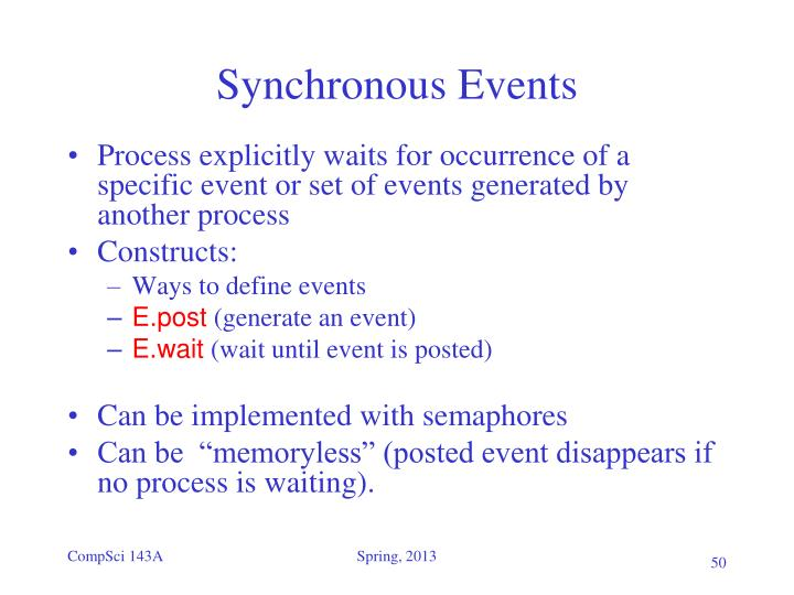 Synchronous Events