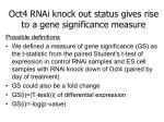 oct4 rnai knock out status gives rise to a gene significance measure