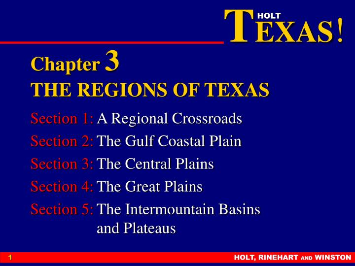 chapter 3 the regions of texas n.