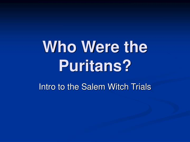 who were the puritans n.