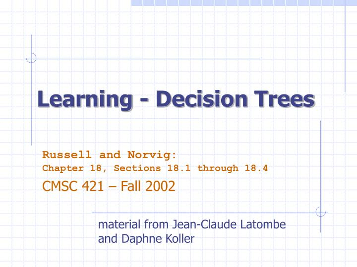learning decision trees n.