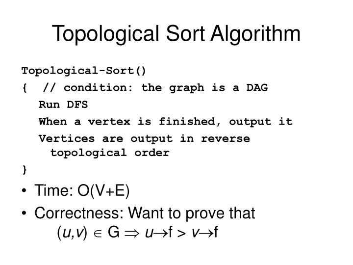 Topological Sort Algorithm