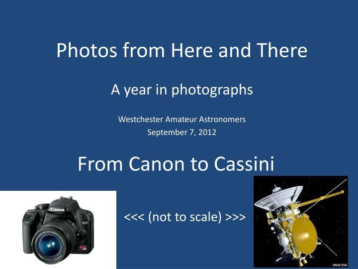 from canon to cassini n.