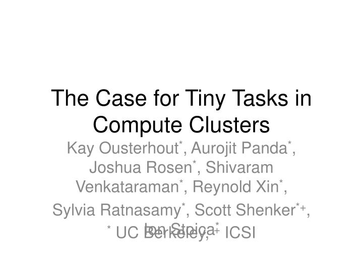 the case for tiny tasks in compute clusters n.