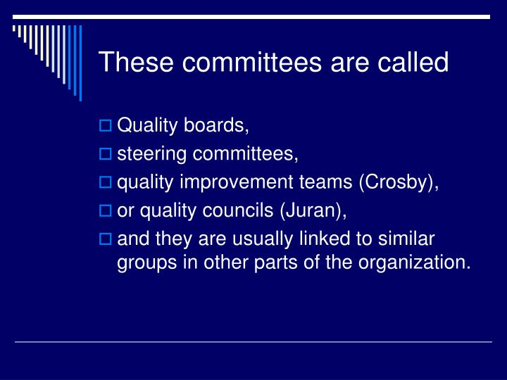 These committees are called