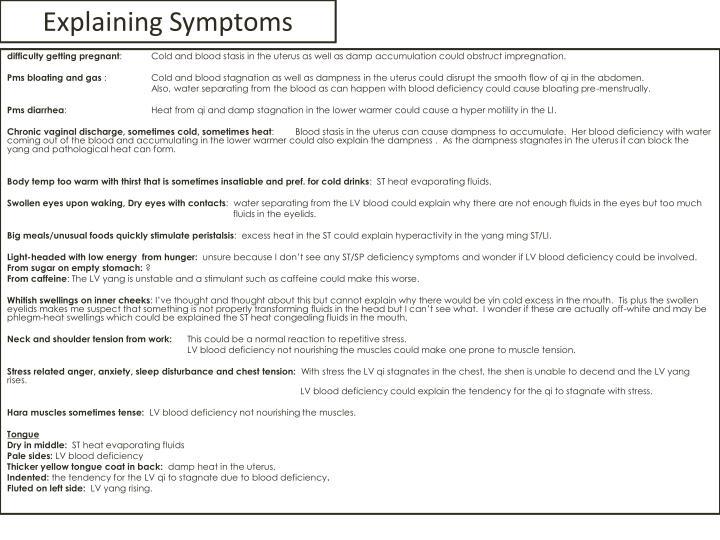 Explaining Symptoms