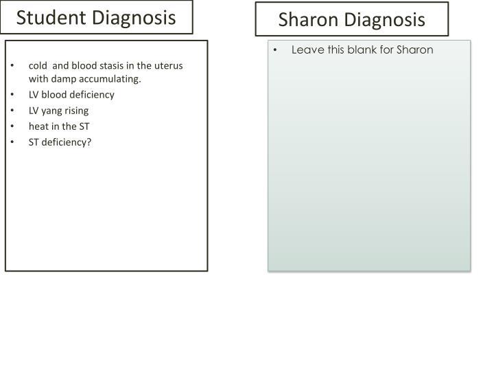 Sharon Diagnosis
