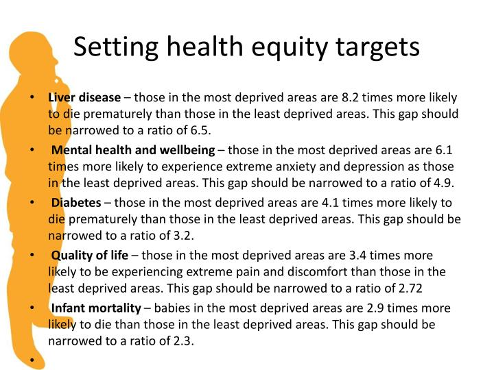 Setting health equity targets