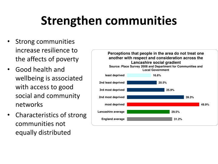 Strengthen communities