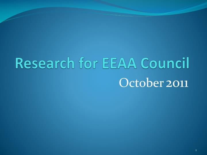 research for eeaa council n.