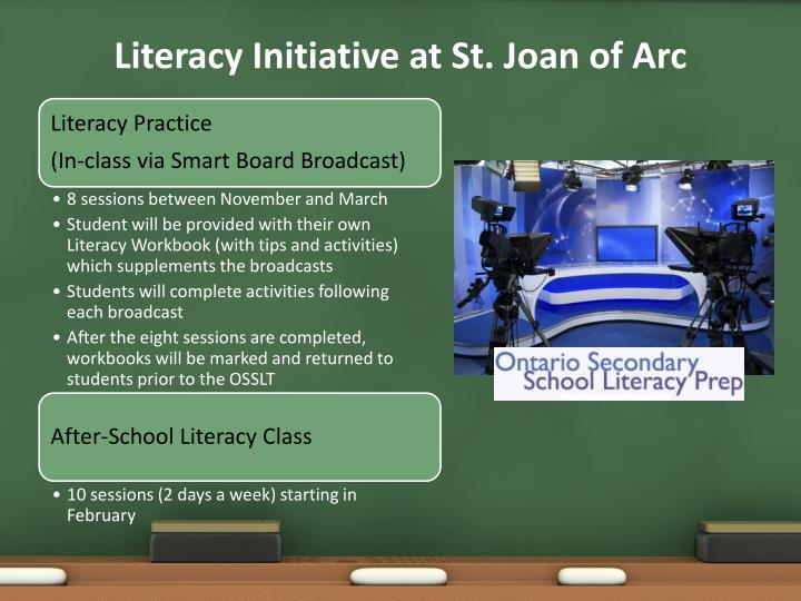 Literacy Initiative at St. Joan of Arc