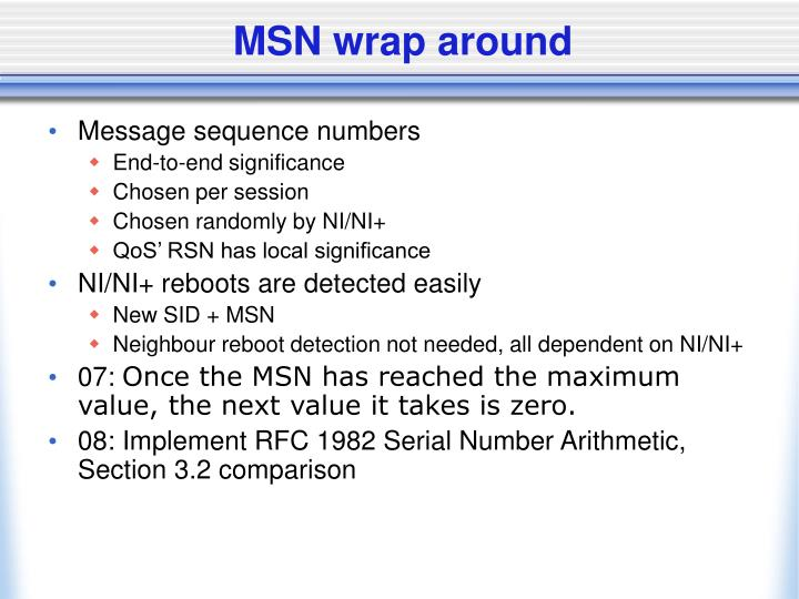 MSN wrap around