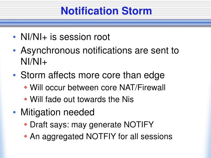 Notification Storm