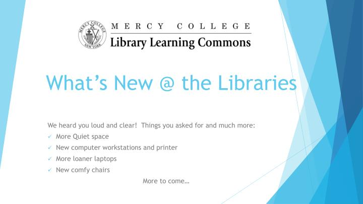 what s new @ the libraries n.
