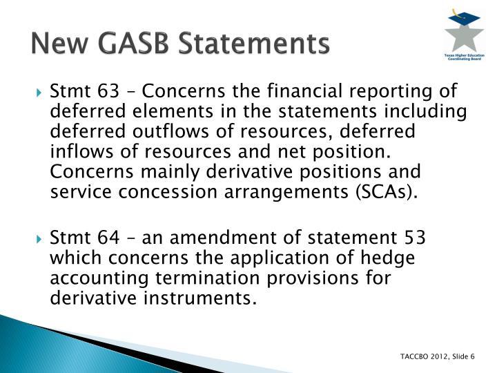 New GASB Statements