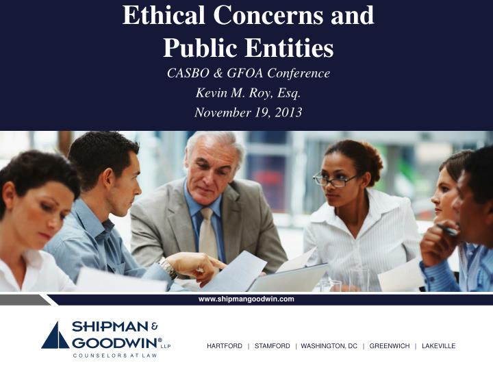 ethical concerns and public entities n.