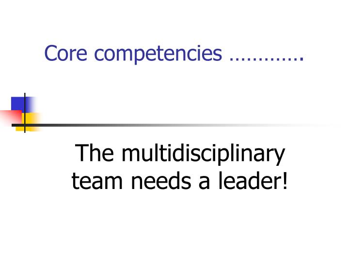core competencies n.