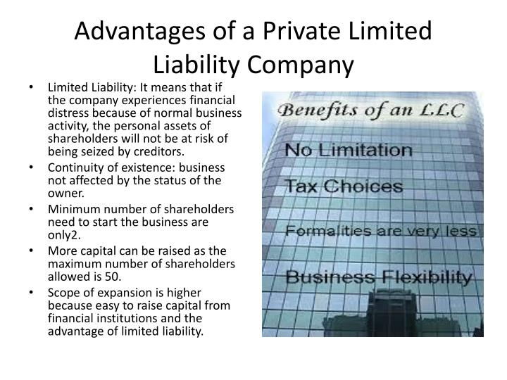 Advantages of a Private Limited Liability Company