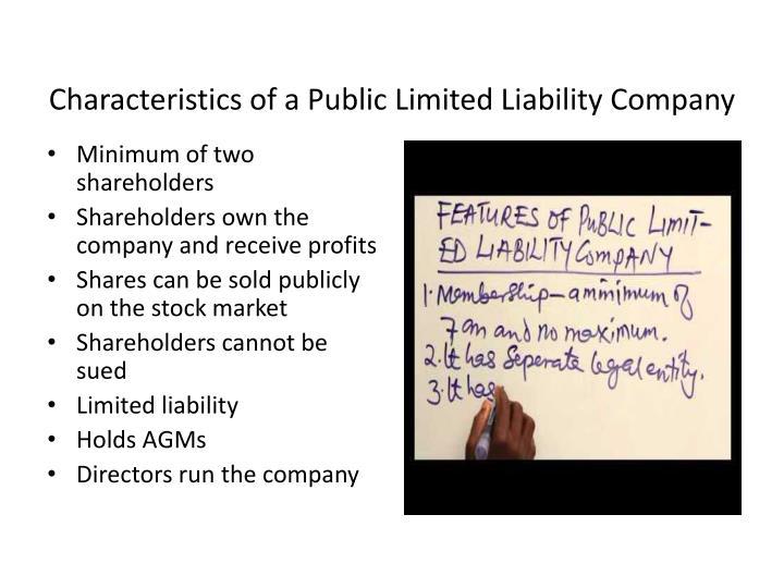 Characteristics of a Public Limited Liability Company