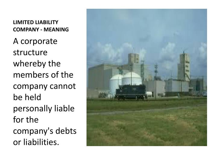 LIMITED LIABILITY COMPANY - MEANING