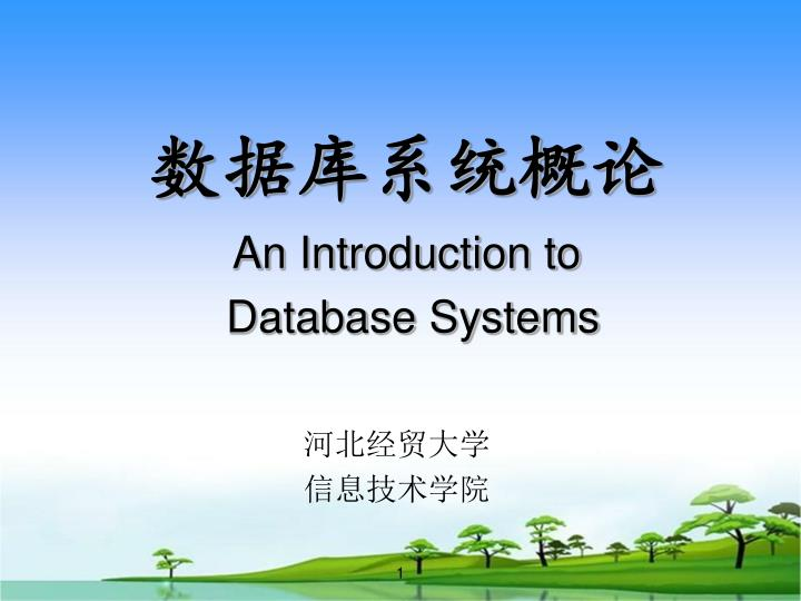 an introduction to database systems n.