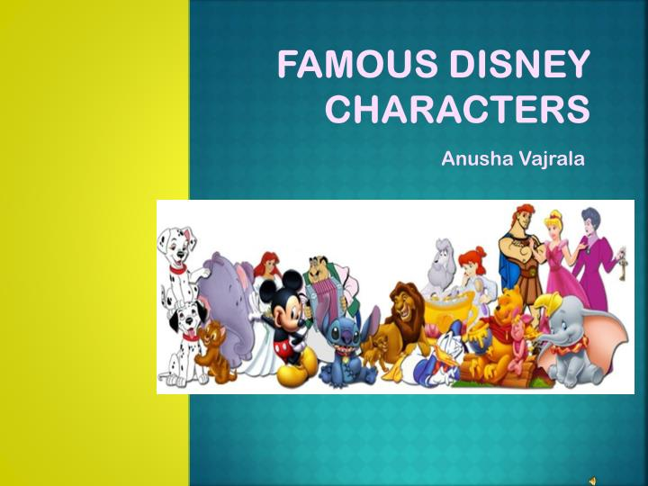 Ppt Famous Disney Characters Powerpoint Presentation Free Download Id 6159901