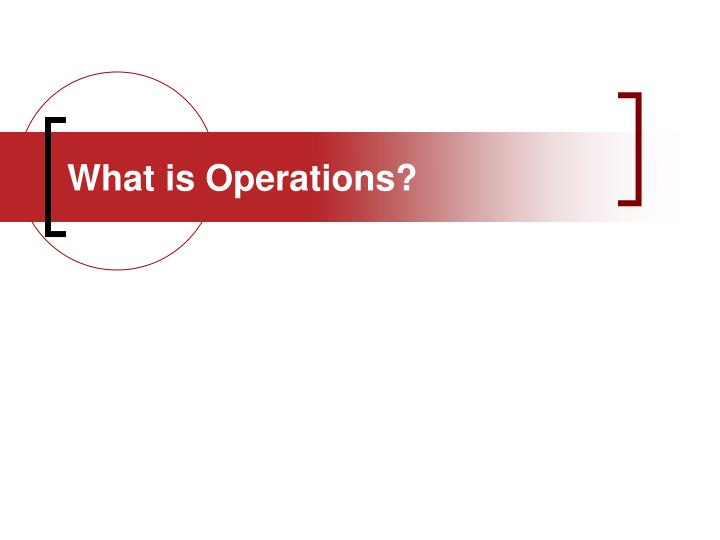 what is operations n.