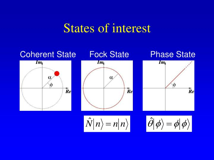States of interest