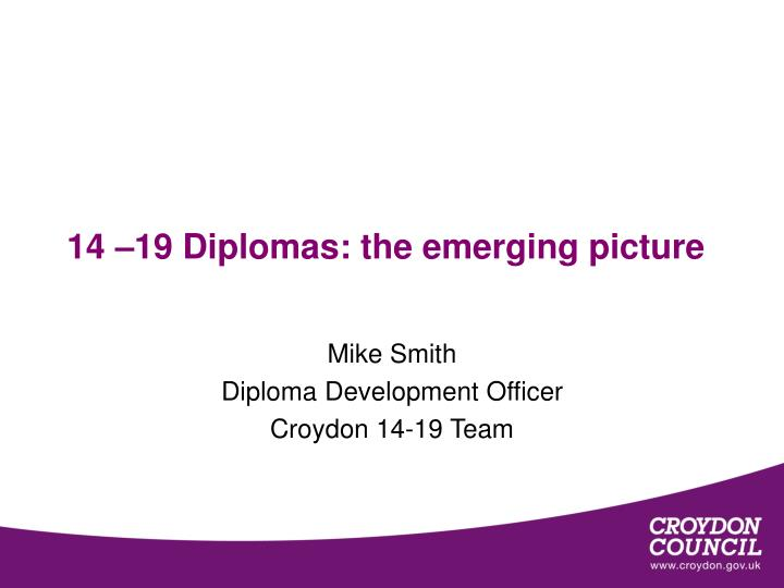 14 19 diplomas the emerging picture n.