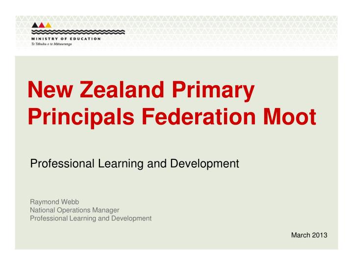 new zealand primary principals federation moot n.