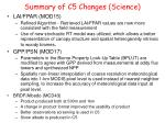 summary of c5 changes science1