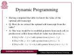dynamic programming16