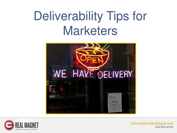 deliverability tips for marketers n.