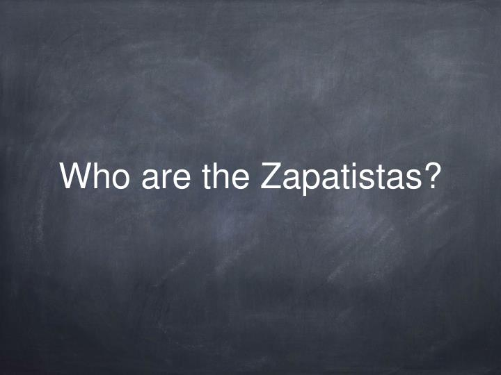 who are the zapatistas n.