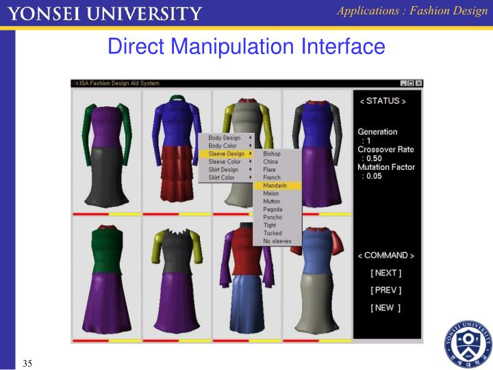 Applications : Fashion Design