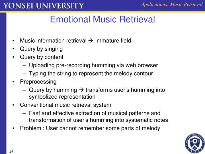 Applications: Music Retrieval
