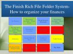 the finish rich file folder system how to organize your finances