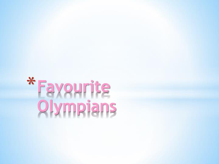 favourite olympians n.