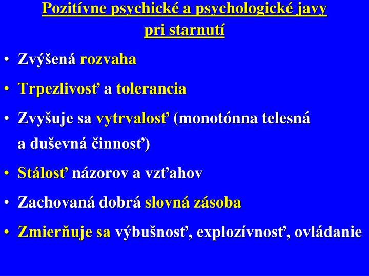 Pozitívne psychické a psychologické javy