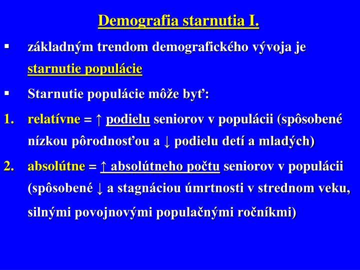 Demografia starnutia I.