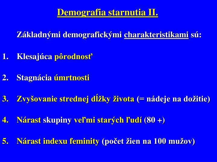 Demografia starnutia II.