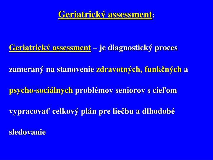 Geriatrický assessment